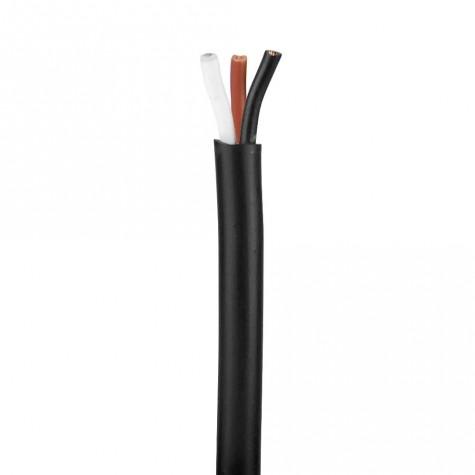 50m Cable Manguera Negro 3 hilos de 1mm2