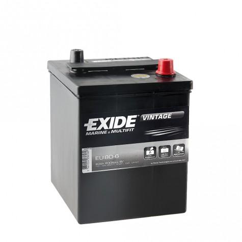 Batería Tudor 6V 80Ah 600A +Dch 158x165x220