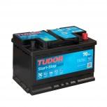 Batería Tudor Start&Stop AGM 70Ah +D 278x175x190