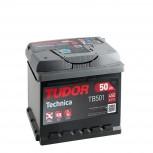 Batería Tudor 12V 50Ah 450A +Izq 207x175x190