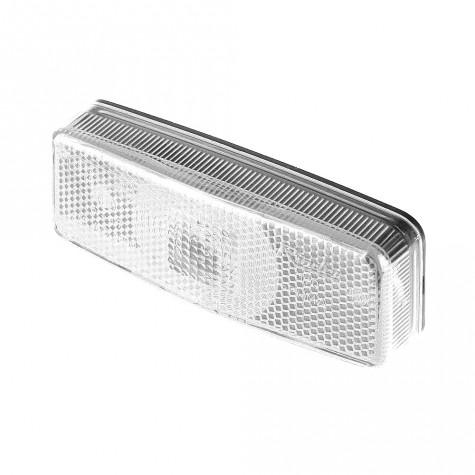 Luz posición Blanca c/Reflex 110x46mm