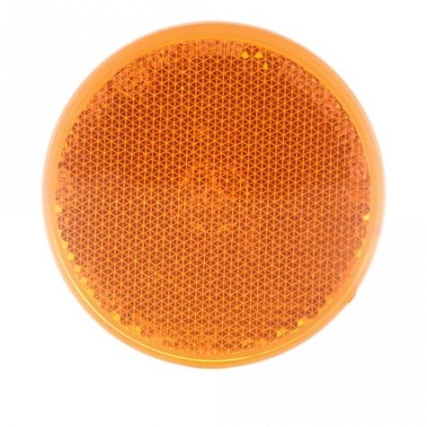 Reflex Redondo Ámbar Adhesivo Ø60mm