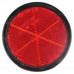 Reflex Redondo Rojo Tornillo Ø80mm