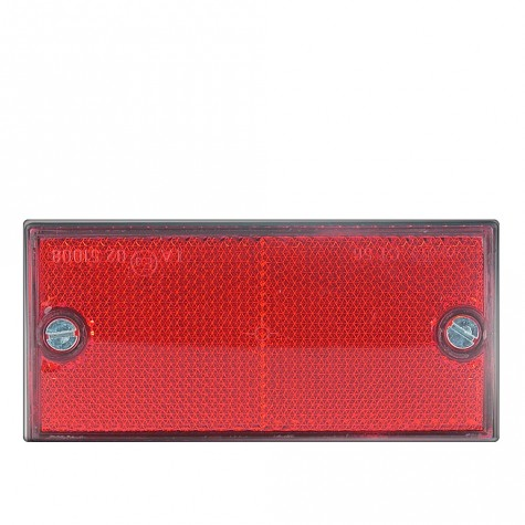Reflex Rectangular Rojo 2 Tornillos 106x50mm