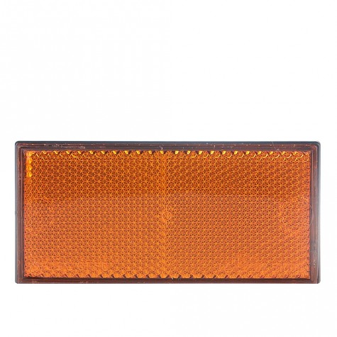 Reflex Rectangular Ámbar Adhesivo 105x48mm
