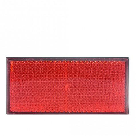 Reflex Rectangular Rojo Adhesivo 105x48mm