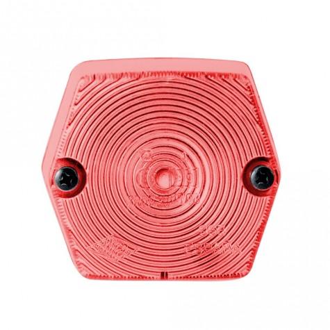 Luz Posición Hexagonal Roja s/Reflex 72x67mm