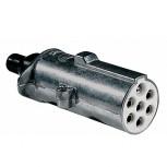 Clavija Aluminio Tornillos 24V 1Macho/6Hembr.