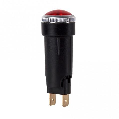 Luz Control Roja Faston Cristal Ø18mm T10