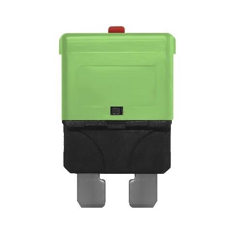 3 Fusibles Rearmables Tipo Mini 30A 24V Verde