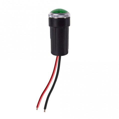 Luz Control Verde Cables Cristal Ø10mm Ba7s