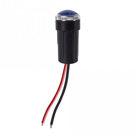 Luz Control Azul Cables Cristal Ø10mm Ba7s