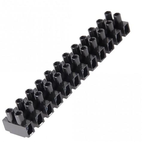 10 Regletas Conexión Negr. 12 Vías 380V 10mm2
