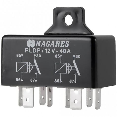 Relé Interruptor Doble 12V 2x40A 4 Term C/Sop
