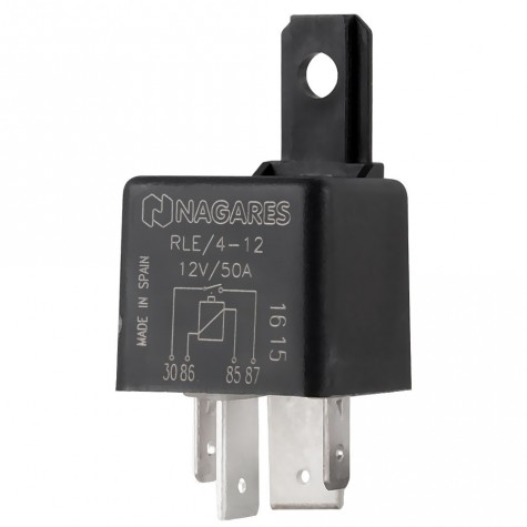 Relé Potenc Interruptor 12V 50A C/Resis C/Sop