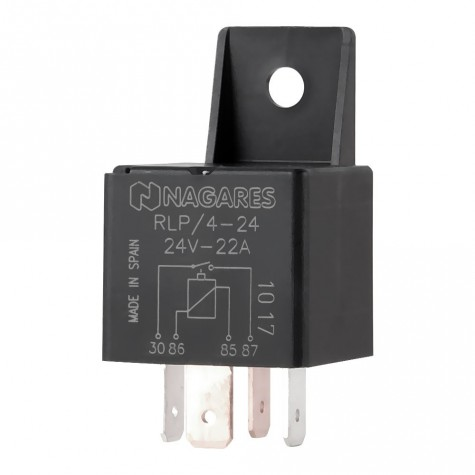 Relé Poliv. Interruptor 24V 22A C/Diodo C/Sop