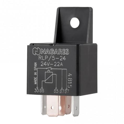 Relé Interruptor Doble Salida 24V 22A C/Sop